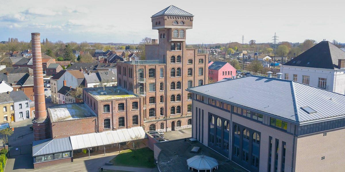 Collège Saint-Julien Ath vue aérienne
