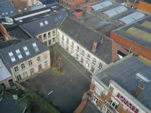 Collège Saint-Julien Ath vue hauteur